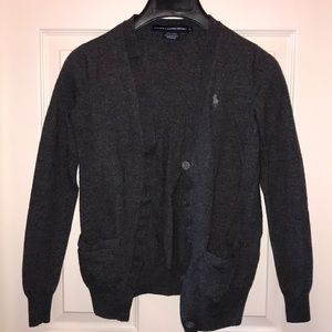Ralph Lauren dark grey cardigan